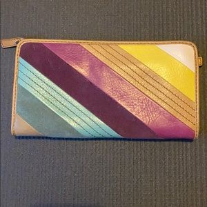 Fossil wallet multicolor stripe
